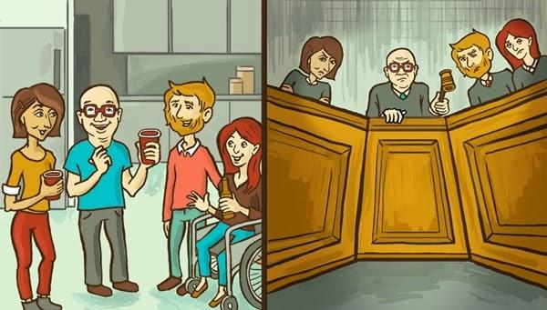 Charge mostra como uma pessoa socialmente ansiosa vê o mundo